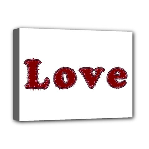 Love Typography Text Word Deluxe Canvas 16  X 12  (framed)