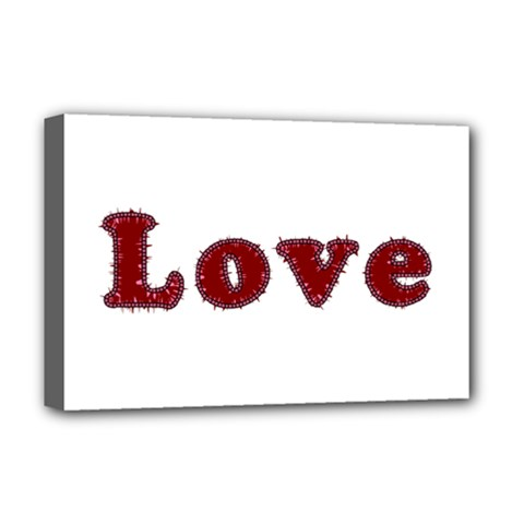 Love Typography Text Word Deluxe Canvas 18  x 12  (Framed)