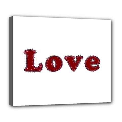 Love Typography Text Word Deluxe Canvas 24  X 20  (framed)
