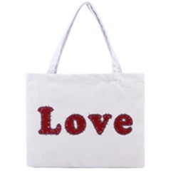 Love Typography Text Word All Over Print Tiny Tote Bag