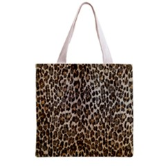 Chocolate Leopard  All Over Print Grocery Tote Bag