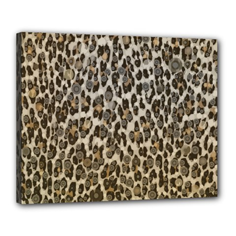 Chocolate Leopard  Canvas 20  X 16  (framed)