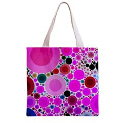 Bubble Gum Polkadot  All Over Print Grocery Tote Bag
