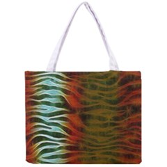 Earthy Zebra All Over Print Tiny Tote Bag