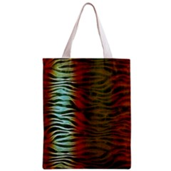 Earthy Zebra All Over Print Classic Tote Bag