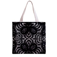 Twisted Zebra  All Over Print Grocery Tote Bag