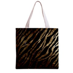 Gold Zebra  All Over Print Grocery Tote Bag