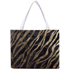 Gold Zebra  All Over Print Tiny Tote Bag
