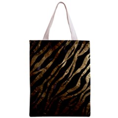 Gold Zebra  All Over Print Classic Tote Bag