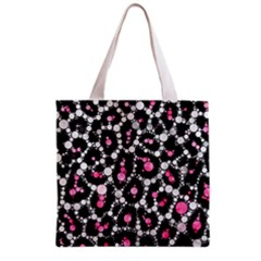 Pink Cheetah Bling All Over Print Grocery Tote Bag