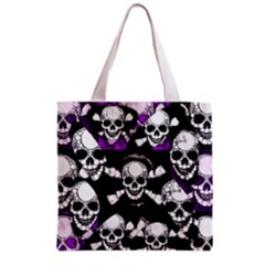 Purple Haze Skull And Crossbones  All Over Print Grocery Tote Bag