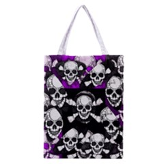 Purple Haze Skull And Crossbones  All Over Print Classic Tote Bag