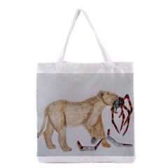 Giant Spider Fights Lion  All Over Print Grocery Tote Bag