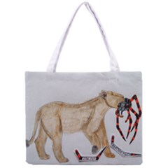 Giant Spider Fights Lion  All Over Print Tiny Tote Bag