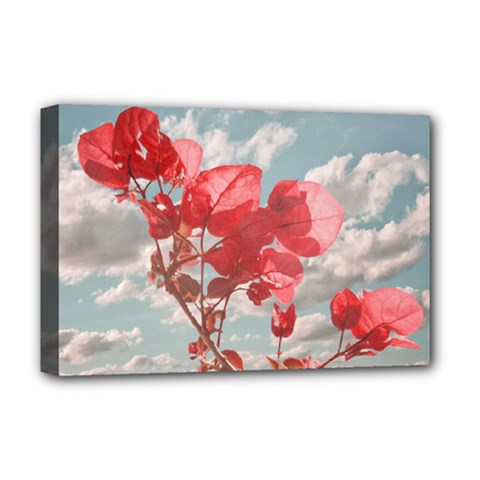 Flowers In The Sky Deluxe Canvas 18  x 12  (Framed)