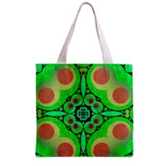 Neon Green  All Over Print Grocery Tote Bag