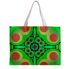Neon Green  All Over Print Tiny Tote Bag