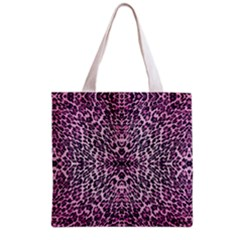 Pink Leopard  All Over Print Grocery Tote Bag