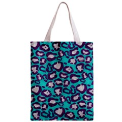 Turquoise Cheetah All Over Print Classic Tote Bag