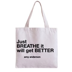 Just Bresthe All Over Print Grocery Tote Bag