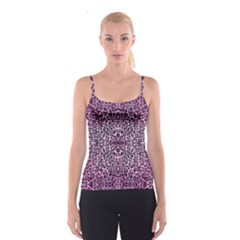 Pink Leopard  All Over Print Spaghetti Strap Top