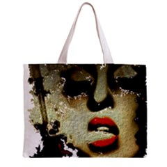 Woman With Attitude Grunge  All Over Print Tiny Tote Bag