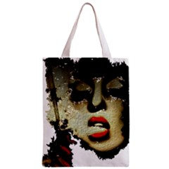 Woman With Attitude Grunge  All Over Print Classic Tote Bag