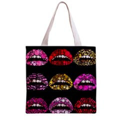 Bling Lips  All Over Print Grocery Tote Bag