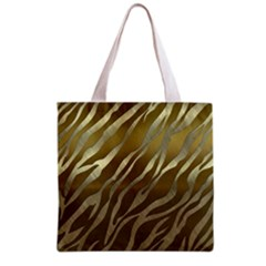 Metal Gold Zebra  All Over Print Grocery Tote Bag