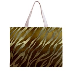 Metal Gold Zebra  All Over Print Tiny Tote Bag