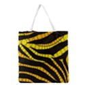 Yellow Bling Zebra  All Over Print Grocery Tote Bag View1