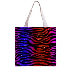 Rainbow Zebra  All Over Print Grocery Tote Bag