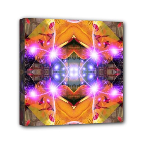Abstract Flower Mini Canvas 6  X 6  (framed)