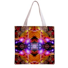 Abstract Flower All Over Print Grocery Tote Bag