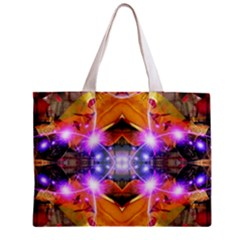 Abstract Flower All Over Print Tiny Tote Bag