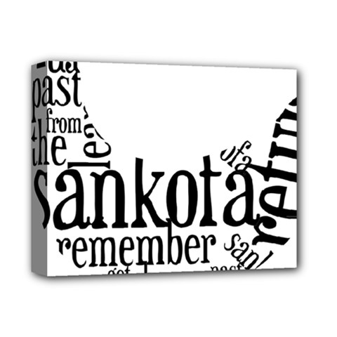 Sankofashirt Deluxe Canvas 14  X 11  (framed)