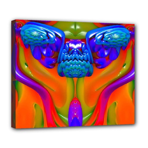 Lava Creature Deluxe Canvas 24  X 20  (framed)