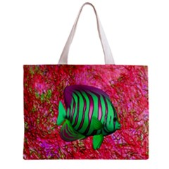 Fish All Over Print Tiny Tote Bag