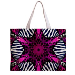 Crazy Hot Pink Zebra  All Over Print Tiny Tote Bag