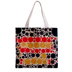 Retro Polka Dots  All Over Print Grocery Tote Bag