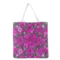 Dazzling Hot Pink All Over Print Grocery Tote Bag