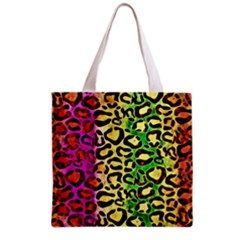 Rainbow Cheetah Abstract All Over Print Grocery Tote Bag