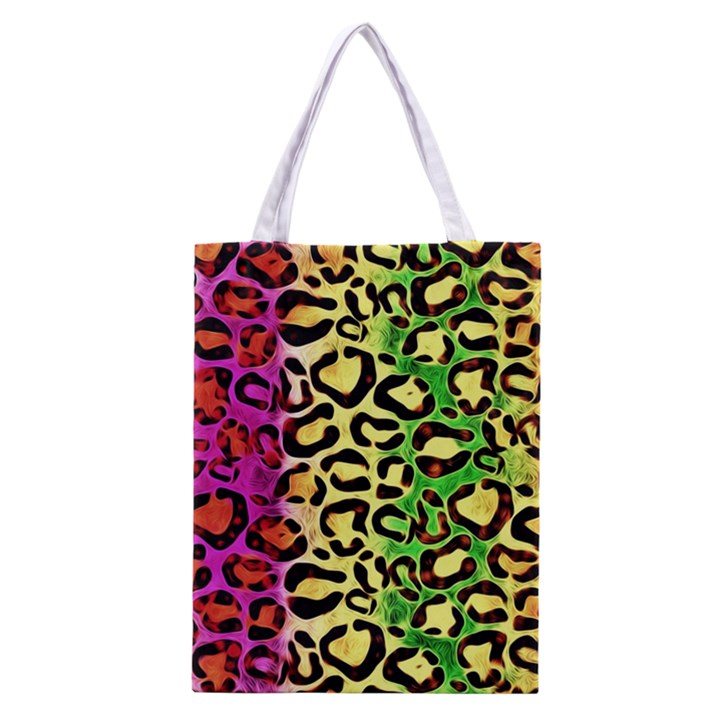 Rainbow Cheetah Abstract All Over Print Classic Tote Bag