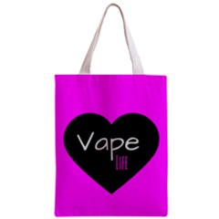 Hot Pink Vape Heart All Over Print Classic Tote Bag