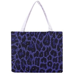 Blue Leapord Bling All Over Print Tiny Tote Bag