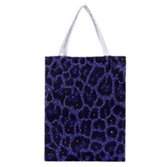 Blue Leapord Bling All Over Print Classic Tote Bag