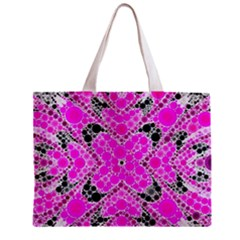 Bling Pink Black Kieledescope  All Over Print Tiny Tote Bag