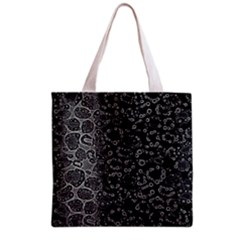 Black Cheetah Abstract All Over Print Grocery Tote Bag