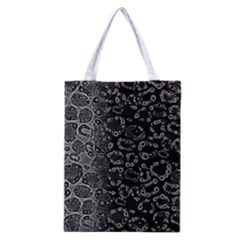 Black Cheetah Abstract All Over Print Classic Tote Bag