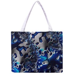 Glossy Blue Fractal  All Over Print Tiny Tote Bag